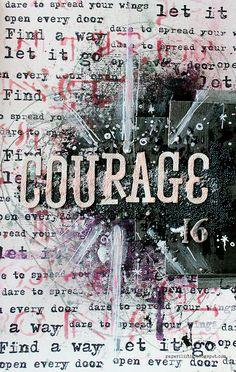 Courage by Riikka Kovasin as a  GDT to Finnabair Creative Team
