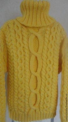 Кофты и свитера ручной работы. Вязаный толстый свитер SOL. Наталия. Ярмарка Мастеров. Свитер мужской, теплый свитер