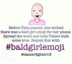 #baldgirlemoji