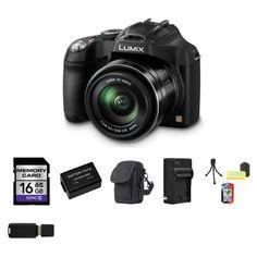 Panasonic Lumix DMC-FZ70 Digital Camera 16GB Package