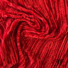 Red Fabric, Fashion Fabric, Crinkles, Red Color, Swatch, Velvet, Printed Silk, Orange, Fashion Design