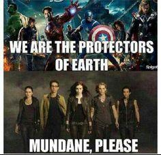 I like the Avengers, but sorry, TMI wins here. ;)