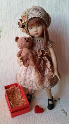 "The outfit ""Valentines day"" for doll 13"" Dianna Effner Little Darling."