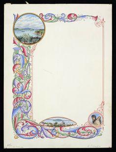 Original watercolour artwork for border of multi-coloured leaf design with a vignette of Maori mother and baby at lower right. Maori Designs, Nz Art, Maori Art, Kiwiana, Decorative Borders, Watercolor Artwork, Leaf Design, Vignettes, Old And New