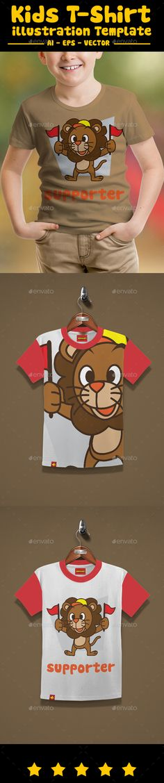 kids t-shirt design, with cute illustration Really Easy to edit Separate Color 100 Vector File Ready To Print