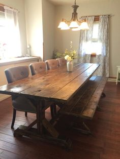 Farmhouse Table, Farm Table, Long Farmhouse Table, Rustic Table, Rustic Wedding, Picnic Table, Barn Table, Long Farmhouse Table by TheFarmhouseFinds on Etsy https://www.etsy.com/listing/401057813/farmhouse-table-farm-table-long
