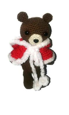 Small crochet bear little teddy bear small pet animal by BeBunny