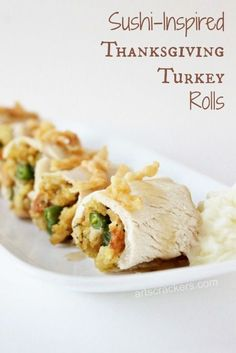 Turkey Rolls Recipe | Leftovers | Thanksgiving | Sushi | Turkey ...