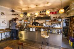 Mogg & Melzer, Berlin. Mogg & Melzer is definitely the place to be for a pastrami on rye, matseball soup or barbecued brisket! Served in a grilled sandwich or cold with salad.