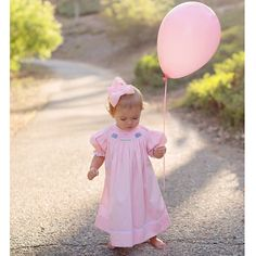 Smocked Birthday Bishop Dress - perfect for pictures! √