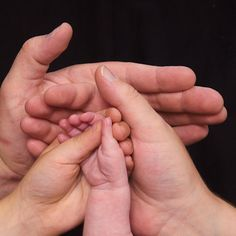 Hands of a family working together to make the best life possible for each other.