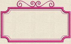 Vintage Frame Embroidery Design Instant by OrangeCatEmbroidery, $2.00