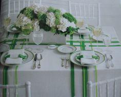 green and ribbons
