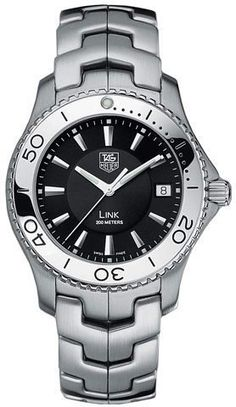 TAG Heuer Mens WJ1110BA0570 Link Quartz Stainless Steel Watch *** Click image to review more details.