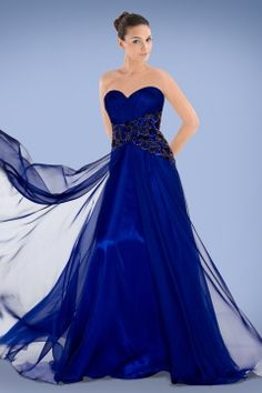 Charming Royal Blue Sweetheart Neckline Prom Dress Featuring Beaded Appliques