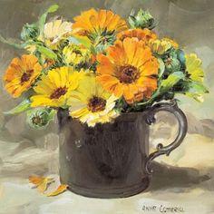 Marigolds | Mill House Fine Art – Publishers of Anne Cotterill Flower Art