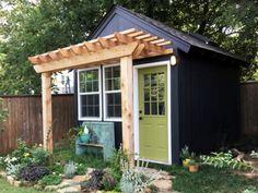 Incredible Backyard Storage Shed Makeover Design - shed plans with loft. Backyard Storage Sheds, Backyard Sheds, Outdoor Sheds, Shed Storage, Garden Sheds, Backyard Studio, Shed Office, Shed Makeover, Shed Decor