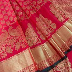 Red Kanjivaram Silk Saree - Bridal Silk Saree - Bridal Saree - Pure Zari Silk Saree - Saree With Blouse - Indian Saree - Indian Wedding sari - Kanjeevaram sarees have a glorious history and distinct style of weaving that sets it apart from al - Indian Blouse, Indian Sarees, Indische Sarees, Indian Wedding Sari, Indian Bridal, Silk Saree Blouse Designs, Sari Blouse, Lehenga Designs, Sari Dress