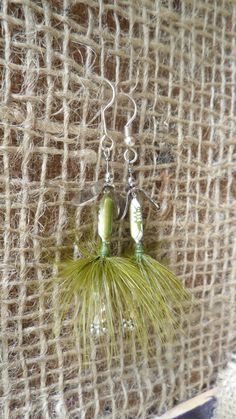 One of a kind Fishing Lure Earrings. Wear your country-side on your ears. Girls love them, and the Boys always notice them. on Etsy, $15.00
