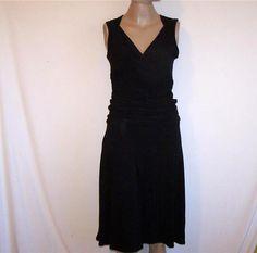 B-SLIM Sz S Dress Build In Shapewear Sleeveless Black Spandex Stretch Womens NWT…