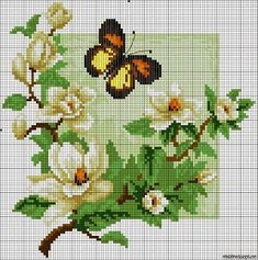 I like so mutch this design Butterfly Cross Stitch, Beaded Cross Stitch, Crochet Cross, Cross Stitch Flowers, Cross Stitch Embroidery, Easy Cross Stitch Patterns, Simple Cross Stitch, Cross Stitch Designs, Cross Stitch Boards