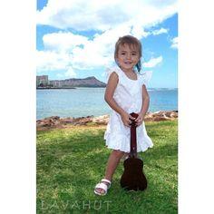 574505576e7ce Makamae White Hawaiian Girl Cotton Dress. Girls Hawaiian DressHawaiian  OutfitsHawaiian ...