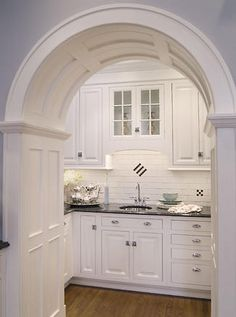 The Best of 2012 - gorgeous butler's pantry - love the white subway tile and the arch