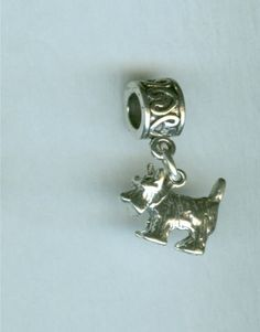 Sterling SCOTTISH TERRIER Dog Bead Charm for by ShymaliLlamas