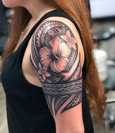 25 Meaningful Hawaiian Tattoo Designs To Try In 2019 - Page 2 of 31 - Find Tattoos Online Hawaiian Tattoo Meanings, Hawaiian Flower Tattoos, Tribal Flower Tattoos, Hawaiian Tribal Tattoos, Samoan Tribal Tattoos, Hawaiianisches Tattoo, Cover Up Tattoos, Leg Tattoos, Body Art Tattoos