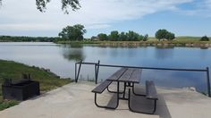 Lake Ogallala in Nebraska, good fishing and shade. 30/50 and 220 hook-ups only. Bring your boat or anything that floats.