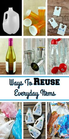 If you are looking for ways to reuse everyday items, this post is for you! I am going to share many different ways you can reuse things you normally trash! crafts diy Ways To Reuse Everyday Items - Reuse Grow Enjoy Reuse Plastic Bottles, Plastic Bottle Crafts, Plastic Bags, Detergent Bottle Crafts, Plastic Container Crafts, Soda Bottle Crafts, Milk Jug Crafts, Soda Bottles, Diy Crafts To Sell