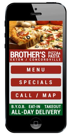 Brother's Pizza and Pasta Mobile Website!