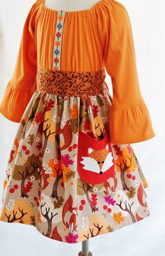 Hey, I found this really awesome Etsy listing at https://www.etsy.com/listing/199402120/girls-fall-dress-back-to-school-fox