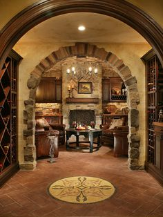 Traditional Wine Cellar Design,