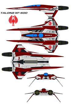 Talon2 Xf-400 by bagera3005.deviantart.com on @deviantART -Looks very similar to the fighter in Buck Rogers