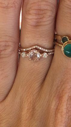 Catbird rose gold rose cut engagement ring