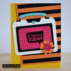 Fine Check Background, Packed with Positivity, Stripes Cover-Up Die-namics, Lunchbox Die-namics - Teri Anderson #mftstamps