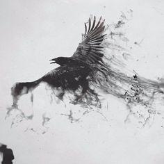 40 Bold and Brazen Bear Tattoos - Blackwork crows look sick blackworkcrow crow blackcrow raven blackbird blackworkbird blackworkartis - Black Crow Tattoos, Black Bird Tattoo, Black And Grey Tattoos, Crow Art, Raven Art, Bird Art, Blackwork, Kunst Tattoos, Body Art Tattoos