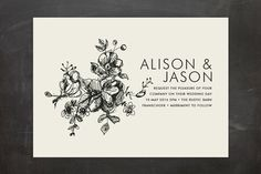 Elegance Illustrated Wedding Invitations by Phrosné Ras | Minted