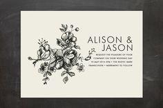 Elegance Illustrated Wedding Invitations by Phrosné Ras | Minted