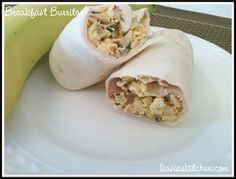 Make ahead breakfast burritos. Easy to freeze. 5 points each on weight watchers!
