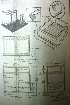 Construcción de un aparador. Fuente: Dalmao, R. El taller en la chacra. En: Revista Charla Rural, nº 174, mayo 1953.