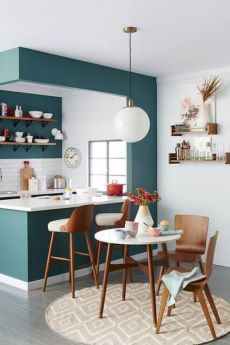 5 Amazing and Unique Tips: Oak Kitchen Remodel Ideas lowes kitchen remodel allen roth.Kitchen Remodel Plans Islands old kitchen remodel.Small Kitchen Remodel With Pantry. Kitchen Colour Combination, Small Apartment Kitchen, Kitchen Small, Open Kitchen, Narrow Kitchen, Small Kitchens, Kitchen Bars, Quirky Kitchen, 1970s Kitchen