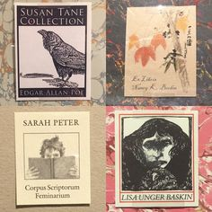 Via Lisa Baskin: A few specimens from the current exhibit: Grolier Club Bookplates Past & Present. Curated by Mark Samuels Lasner & Alexander Ames. November 17 2026- January 14. 2017. #mostlypresent #womenmembers #grolierwomen #maryhyde #menonly 1884-1976 #womenadmitted1976 #bibliophiles