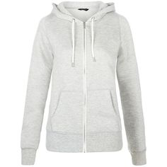New Look Grey Basic Zip Up Hoodie ($19) ❤ liked on Polyvore featuring tops, hoodies, grey, zip up hoodies, hooded zip up sweatshirt, long sleeve tops, hooded top and gray hooded sweatshirt