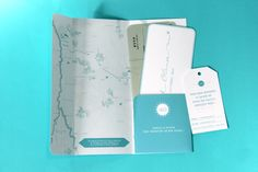 Wedding Invitation I&O - Ticket plane  by Allons-y Alonso - design d'invitations & fun !