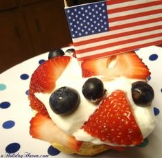 Red, White & Blueberry Dessert~ so easy with Pillsbury biscuits (grands)