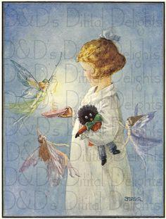 Fairies Surround Little Girl and Her by DandDDigitalDelights, $1.99