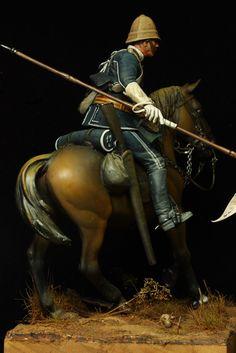 British 17th lancer 1879 British Army Uniform, British Uniforms, British Soldier, British Armed Forces, Military Figures, Military Diorama, Military Art, Military History, Military Uniforms