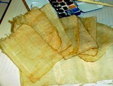 Faire des papyrus
